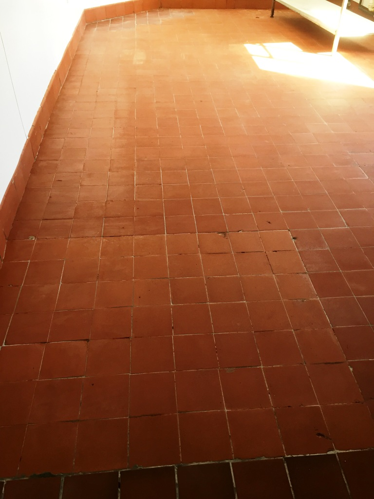 Quarry Tiles After Cleaning Yeovil in Somerset