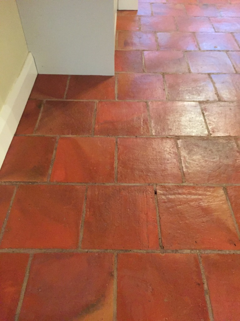 Terracotta Floor After Cleaning Minehead Somerset