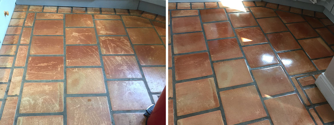 Cleaning and Resealing Terracotta Kitchen Tiles in Crewkerne